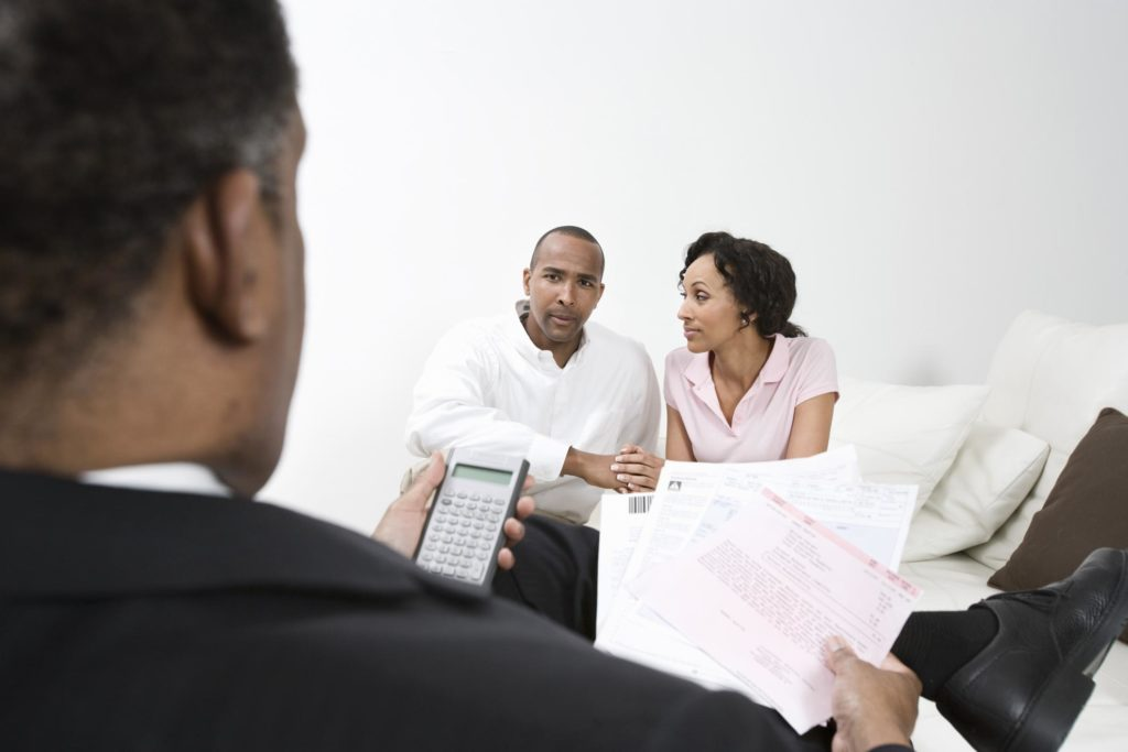 professional bookkeeper working on business consulting