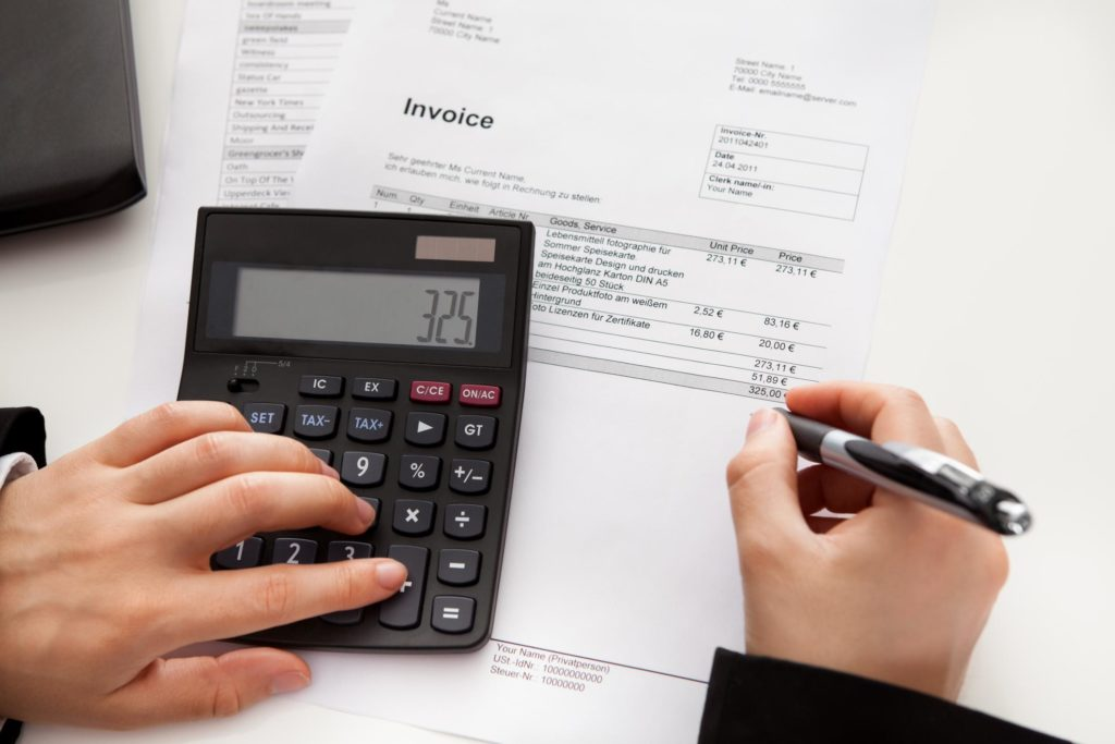 professional bookkeeper working on personal finances